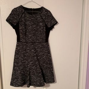J. Crew black and white skater dress